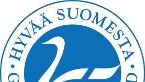Hyvää Suomesta -merkki (Joutsenlippu).