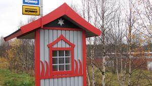 Bussipysäkki Sodankylässä
