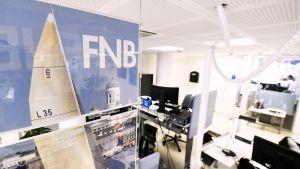 FNB:n toimitus Voimatalossa Helsingissä.