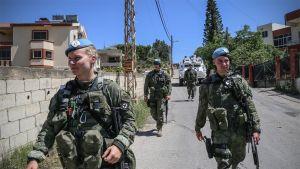 Suomalaisia sotilaita Libanonissa.