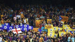 Barcelonan faneja Malaga-ottelussa