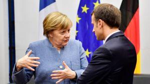 Saksan liittokansleri Angela Merkel tapasi Ranskan presidentin Emmanuel Macronin viime viikolla Bonnin ilmastoneuvotteluissa.