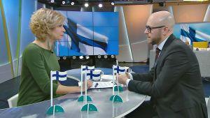 Anna Lehmusvesi ja Mika Mäkinen.