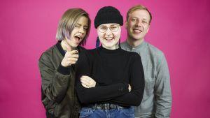 Tubettaja Mansikka eli Maiju Voutilainen kävi YleX Etusivussa Hannan ja Jussin vieraana.