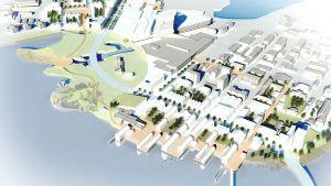 Europan14-arkkitehtikilpailun Tornion havainnekuva.