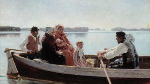 Albert Edelfeltin maalaus ristiäissatto