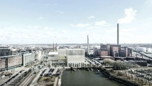 Kaupunkiympäristön toimialan havainnekuva näyttää, miltä Hanasaaren moskeija voisi näyttää.
