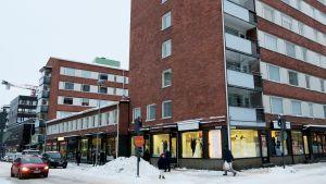 Kerrostaloja Tampereen keskustassa