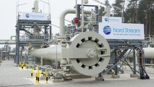 Nord Stream kaasuputken pääteasema Lubminissa lähellä Greifswaldia, Saksassa.