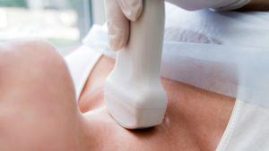 En förstorad sköldkörtel behöver ibland undersökas med ultraljud
