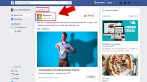 Reklam på Facebook.