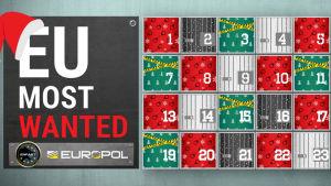Europol gjorde adventskalender över efterlysta