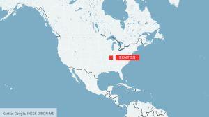 Karta över USA.