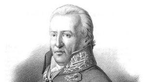 Läkaren Sven Anders Hedin (1750-1821).  Litografi av Otto Henrik Wallgren (1795-1857).