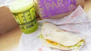 Taco vid Taco Bell.