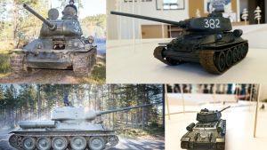 Miniatyrmodeller av pansarvagnar har byggts