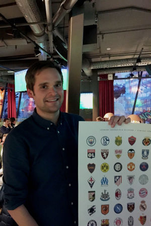 """Leonard Jägerskiöld Nilsson har skrivit boken """"Fotbollens Heraldik""""."""
