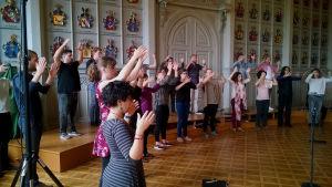 Tenso Europe Chamber Choir äänenavauksessaan
