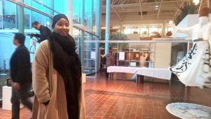 May Ahmed på kulturcentret Stoa.