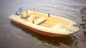 Motorbåt.