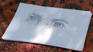 teckning av ett ögonpar