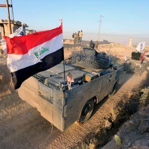 Irakiska styrkor i närheten av Kirkuk 16.10.2017.