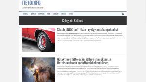 Kuvakaappaus Tietoinfo-sivustosta.