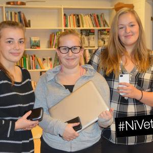 Pia Bussman, Melissa Ekström och Dinah Ahl.