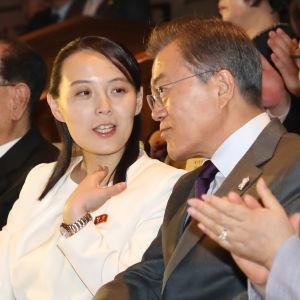 Kim och Moon tillbringade ovanligt mycket tid tillsammans under hennes tre dagar långa besök