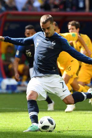 Antoine Griezmann skjuter en straff