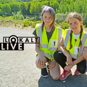 Hilma Ahonen (till vänster), Ayda Güven (mitten) och Hilma Ahonen (till höger) från Näse skola