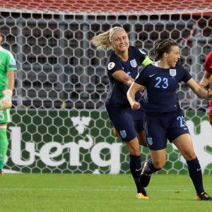 England vann över Spanien med 2-0.
