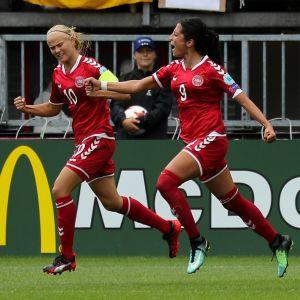 Pernille Harder och Nadia Nadim guld värda för Danmark.