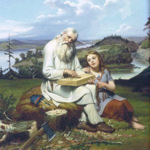 Väinämöinen, målning av Johan Blackstadius.