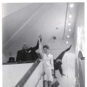 Hannu ja Irma Hautala vuonna 2007 valokuvakeskus Hannun jalanjäljet avajaisissa.