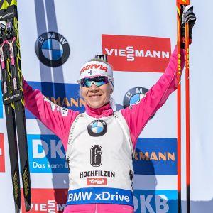 Kaisa Mäkäräinen vann VM-brons.