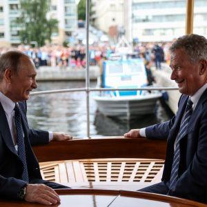 Vladimir Putin och Sauli Niinistö i Nyslott i juli 2017.