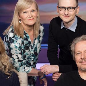 Veden muistista, merkityksestä Anne Flinkkilän kanssa keskustelemassa kirjailija Emmi Itäranta,dokumentaristi Petteri Saario ja ympäristövaikuttaja Leo Stranius.