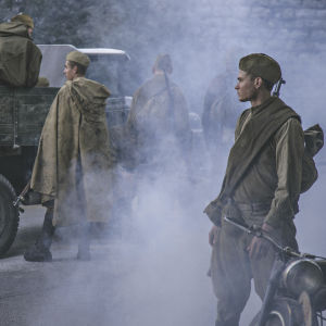 Puna-armeijan sotilaita. Kuva elokuvasta 1944