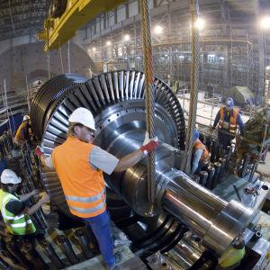 Reaktorbygge vid kärnkraftverket i Olkiluoto.