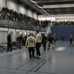 Paus under handbollsmatch i Samppalinna, 2016.