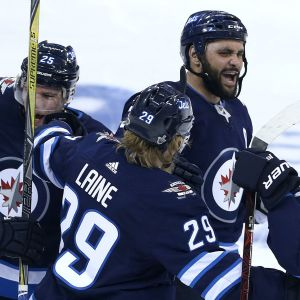 Winnipeg Jets jublar.