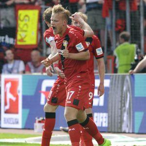 Joel Pohjanpalo firar mål