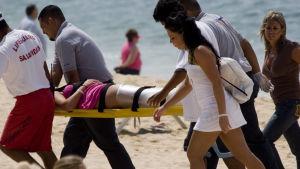 Jet ski onnettomuus lomalla