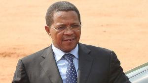 Tanzanias president Jakaya Kikwete på besök i Indien.