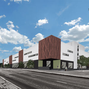 Visuell bild av det nya köpcentrumet.