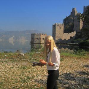 Hannah Kekäle kommer från Vasa och skall flytta till Belgrad i Serbien.