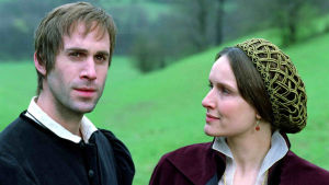 Bild ur filmen om Luther med Martin och Katarina von Bora