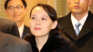 Kim Yo-Jong ingår i Nordkoreas officiella delegation i OS.