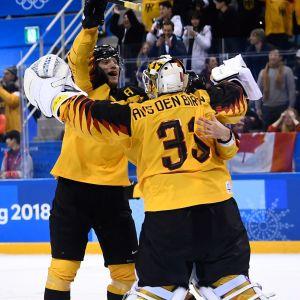 Tyskland jublar, ishockey, OS 2018.
